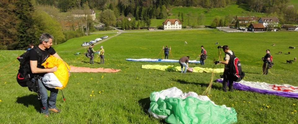 Flugschule Alpstein bei Gleitschirm Ausbildung